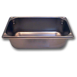 "The Vollrath Company 4"" Deep One Third Size Super Pan II Stainless Steel Steam Table Pans"