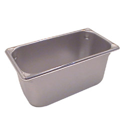 "The Vollrath Company 6"" Deep One Third Size Super Pan II Stainless Steel Steam Table Pans"