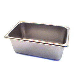 "The Vollrath Company 4"" Deep One Fourth Size Super Pan II Stainless Steel Steam Table Pans"