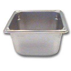 "The Vollrath Company 4"" Deep One Sixth Size Super Pan II Stainless Steel Steam Table Pans"