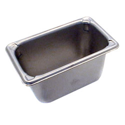 "The Vollrath Company 4"" Deep One Ninth Size Super Pan II Stainless Steel Steam Table Pans"