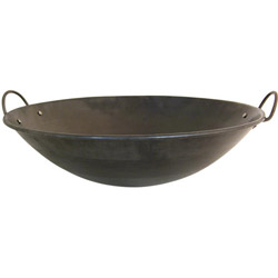 "Misc Imports 21 1/2"" Curved Rim Wok"