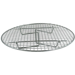 "Update International Round Chrome Plated Steamer Rack, 12.75"" x 1"" Height"