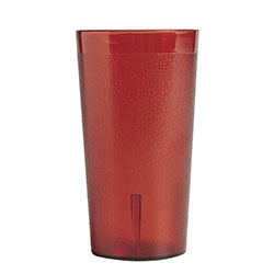 Cambro 12 Oz Plastic Cups, Red, Pack of 72