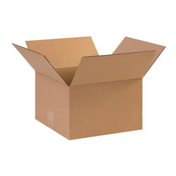 "Box Partners 12"" x 12"" x 6"" Brown Corrugated Boxes"