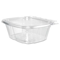 Dart ClearPac Container Lid Combo-Packs, 4.9 x 2.5 x 5.5, 16 oz, Clear, 200/Carton