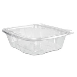 Dart Hinged Plastic Container with Lid, 24 OZ