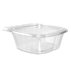 Dart Hinged Plastic Container with Lid, 12 OZ