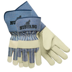 Memphis Glove Mustang Grain Leather Palm Gloves w/2-