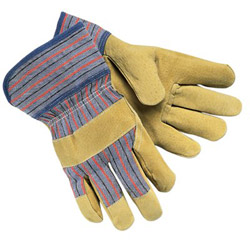Memphis Glove Grain-Leather-Palm Gloves, Large