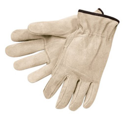 Memphis Glove Split Leather Cream Color Elastic Bac