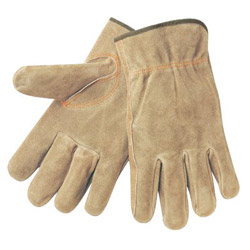 Memphis Glove Split Leather Russet Color Elastic Bac