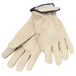 Memphis Glove White Fleece Lined Splitleather Glove Cream