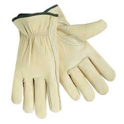 Memphis Glove Economy Leather Drivers Gloves, White, Large, 12 Pairs