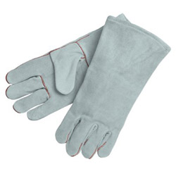 "Memphis Glove 13"" 1 Piece back Grey Welders Gloves Shoulder Le"