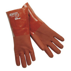 "Memphis Glove 14"" Gauntlet Premium Double Dipped Red PVC Jer"