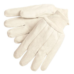 Memphis Glove 12 Oz. Canvas Gloves w/Knit Wrist Men's Size
