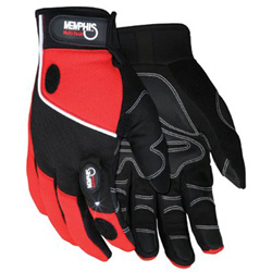 Memphis Glove MULTI-TASK RED SPANDEX-SYNTHETIC LEATHER- WITH