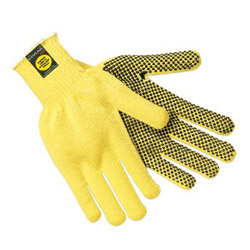 Memphis Glove Kevlar String Knit PVCdots Regular Wt. Large