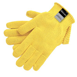 Memphis Glove Kevlar Gloves, Large, Yellow