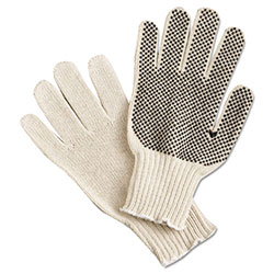 Memphis Glove PVC Dot String-Knit Gloves, Cotton/Polyester, Large