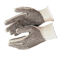 Memphis Glove Cotton/polyester NaturalPVC Dots 2 Sides Large