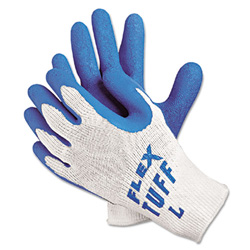 Memphis Glove Flex-tuff 10 Gage Bluelatex Ctd Palm
