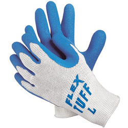 Memphis Glove Flex-tuff 10 Gage Blue Laytex Coated Palm Gloves