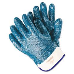 Memphis Glove Predator Premium Nitrile-Coated Gloves, Blue/White, Large, 12 Pairs