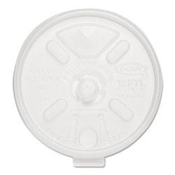 Dart Container Lid with Straw Slot, White