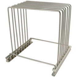 Misc Imports Stainless Steel Cutting Board Rack