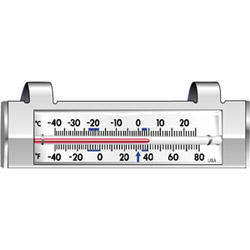Cooper Instrument NSF Approved Refrigerator/Freezer Tube Thermometer 40/80