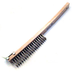 "Johnson-Rose 14"" x 12"" Grill Brush w/Scraper"