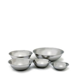 Crest Manufacturing Heavy Duty Stainless Steel Mixing Bowl, 5 Quart