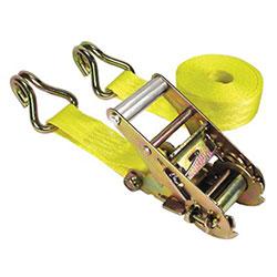 Keeper Ratchet Tie Down, 1 3/4 in Wide, 15ft Long, 1666lbs Capacity, J-Hook