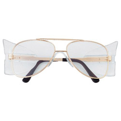 Crews Engineer Gold Frame Clear Lens Safety Glass