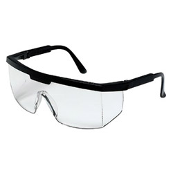 Crews Excalibur Black Frame Clear Lens Safety Glass