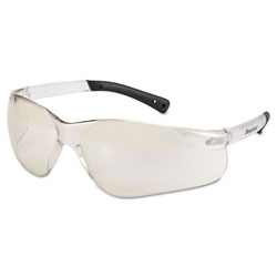 Crews BearKat Safety Glasses, Frost Frame, Clear Mirror Lens