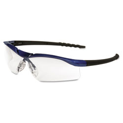 Crews Dallas Blue Metallic Frame Clear Aft Lens