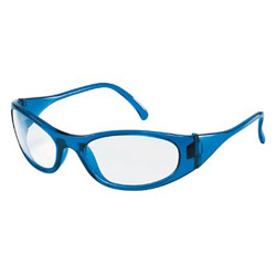 Crews Frostbite2 Blue Frame Clear Lens Safety Glass