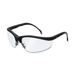 Crews Klondike Black Frame Clear Lens Safety Spectacle