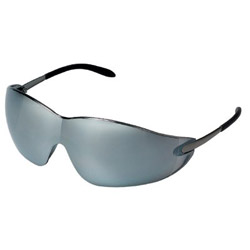 Crews Blackjack Protective Eyewear, Chrome Frame, Silver-Mirror Lens