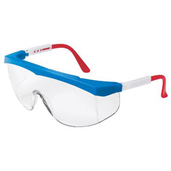 Crews Stratos Red/wht/blue Frame Clear Lens
