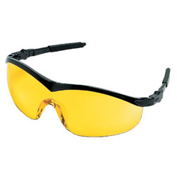 Crews Storm Black Frame Amberlens Safety Glasses