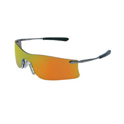 Crews Rubicon Metal Temple Safety Glasses Fire Lens