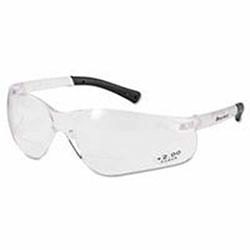 Crews BearKat Magnifier Safety Glasses, Clear Frame, Clear Lens