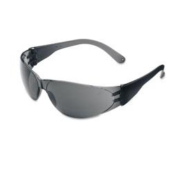 Crews Checklite Scratch-Resistant Safety Glasses, Gray Lens