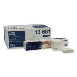 Tork Premium Xpressnap Interfold Dispenser Napkins, 2-Ply,8.5x8.5,White,500/PK,8PK/CT