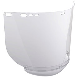Jackson Safety* F20 Polycarbonate Face Shields, Unbound, Clear, 15 1/2 in x 8