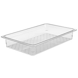 Cambro Food Pan Colander 1/1 Camwear® 3 in Clear
